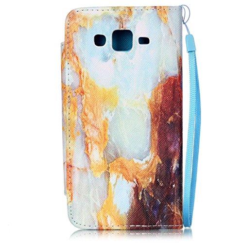 Samsung Galaxy Grand Prime G530 Hülle,Sunroyal PU Leder Brieftasche Schutzhülle Tasche Handyhülle Schutz Hüllen im Bookstyle Ledertasche mit Stand Funktion Kartenfächer Magnetverschluss Magnet Etui Sc Pattern01