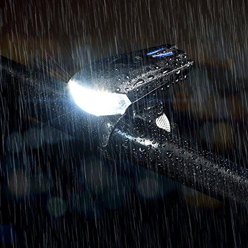 MACHFALLY Fahrradbeleuchtung, Fahrrad Licht LED USB Set mit Automatisch Einstellbarer Helligkeit, Wasserdichte Fahrradlampen inkl. Frontlicht und Ruecklicht , 1200 mAh Akku-Fahrradlampen fuer Kinder- , Herren- und Damenraeder (Frontlicht&Ruecklicht Set) - 5