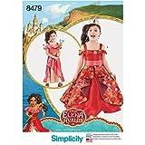 Simplicity 8479Muster 8479 Disney Elena of Avalor Kostüm für Kinder, Papier, Weiß, A (3-4-5-6-7-8)