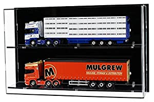 Widdowsons Display Cases Wall 50 Model Trucks Or 1:12 Scale Motorcycles, Acrylic, 47 x 13.5 x 29.5 cm