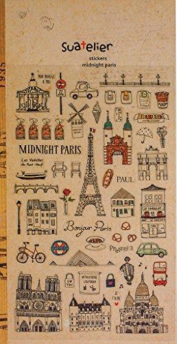 Logbuch-Verlag 56 kleine PARIS FRANKREICH Aufkleber Sticker selbstklebend Vintage Stil Nostalgie Look Liebe Amour Eiffelturm Scrapbooking Deko-Sticker