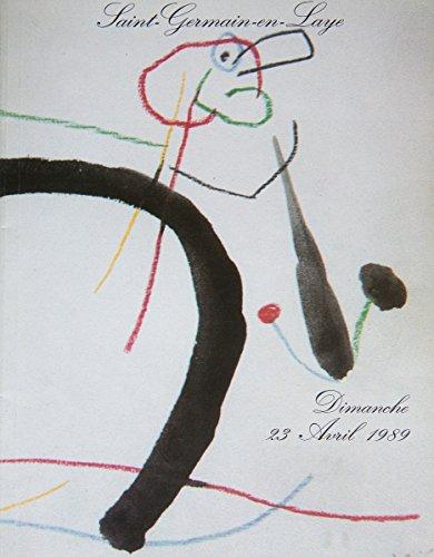 Dimanche 23 avril 1989, Tableaux XIXe et modernes, Gravures et lithographies, dessins, pastels, gouaches, aquarelles, sculptures, huiles par Saint-Germain en Laye