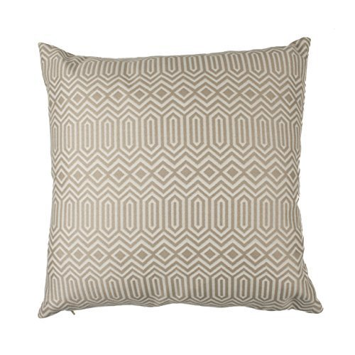 McAlister Textiles Aztec Kollektion   Zierkissen im geometrischen Colorado-Muster mit Entenfederfüllung   40cm x 40cm in Taupe Natur   Deko Kissen für Sofa, Bett, Couch