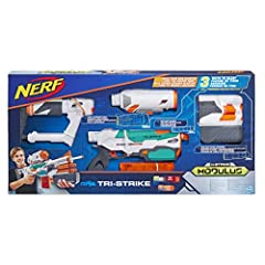 Idea Regalo - Hasbro B5577EU4 Nerf Modulus Tri Strike, Blaster Lanciadardi d'élite