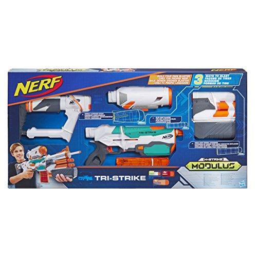 Hasbro B5577EU4 Nerf Modulus Tri Strike, Blaster Lanciadardi d\'élite