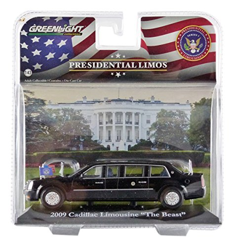 greenlight-collectibles-86110d-cadillac-limousine-barack-obama-2000-echelle-1-43-noir