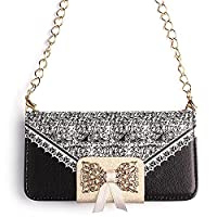 HuifengS Women's Crossbody Bag Handbag Shoulder Purse with Chain Strap(Black?