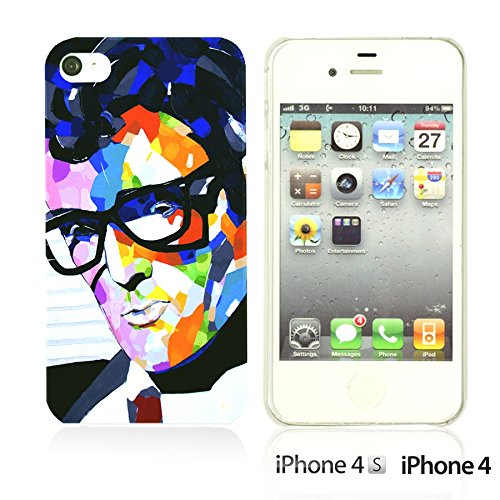 OBiDi - Celebrity Star Hard Back Case / Housse pour Apple iPhone 4S / Apple iPhone 4 - Marvin Gaye Buddy Holly