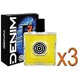"""3 x Denim """" Original"""" Aftershave /je 100ml/ Rasierwasser/ for Men/ für Männer/ sinnlicher und eleganter Duft"""
