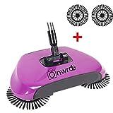 3 in 1 Automatische Hand Push Sweeper Besen Roboter Kehrmaschine,360 Grad Rotierende Ohne Strom Kehrschaufel Mülleimer Mütter Day Geschenke