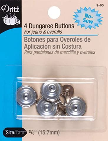 No-Sew Dungaree Buttons 5/8