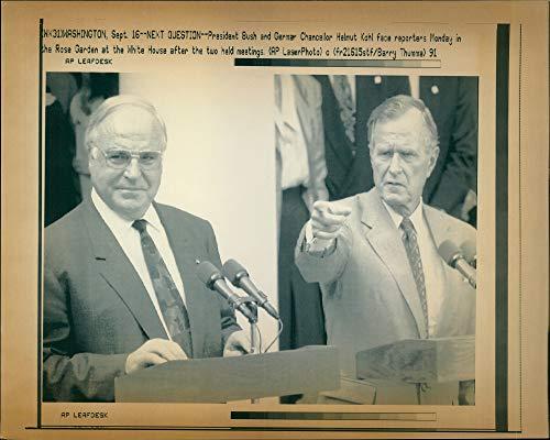 Fotomax Vintage Photo of George W. Bush with Helmut Kohl.