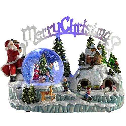 WeRChristmas - Bola de nieve con música e iluminación (30 cm), diseño...