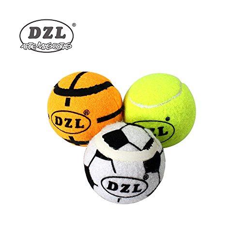 DZL Pelota para perros una bolsa 3 unidades: fútbol/baloncesto/béisbol grande y pequeño dos tipos (Grande)