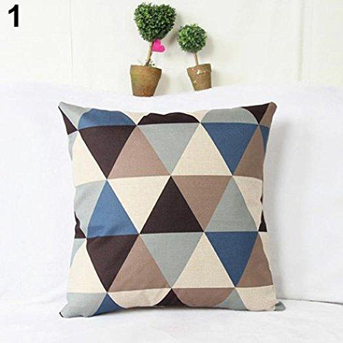 Fashion quadratisch Leinen Überwurf Kissenbezug Home Sofa Dekoration amesii 1 (King Leinen Schwarz)