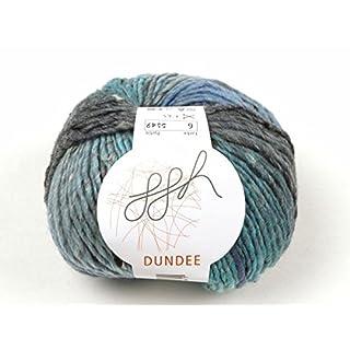 Dundee Farbmix Wolle Strickgarn 50g/125m hellblau-aqua-grau