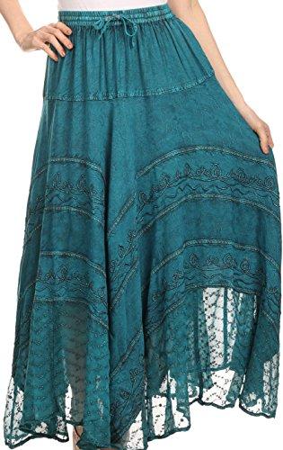 Sakkas 13222 Ivy Maiden Boho-Rock - Türkis-Blau - One Size Regular (Die Unglaublichen Kostüm Designer)