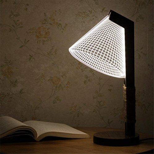 FACAIG Nachttischlampe Atmosphäre studieren Lampe Tischlampe Helligkeitsregler Helligkeitsstufen Eye Care Wohnzimmer Schlafzimmer Horn 3D Acryl Massivholz Tischleuchte