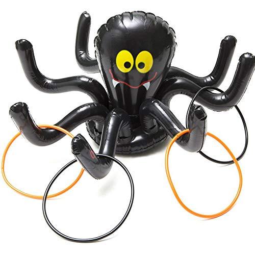 Sunshine D Toss Spiel, aufblasbare Ring Toss Spielzeug lustige Sport Spielzeug für Kinder Kleinkind Party Supplies Halloween Weihnachten Indoor und Outdoor Spiele - Tintenfisch