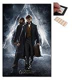 Garnitur - 2 Artikel - Fantastische Bestie The Crimes Of Grindelwald Molch & Dumbledore Plakat - 91,5 X 61cms (36 X 24 Z