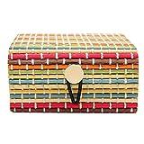 bismarckber Bambus-Holz-Schmuckkästchen für Halskette Armband Ohrringe Aufbewahrungsbox für Frauen, bunt, Einheitsgröße