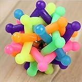 ZZH Hundekauen-Spielzeug Hund Schleifen Spielzeug Geknotete Kugel Mit Eingebauter Glocke