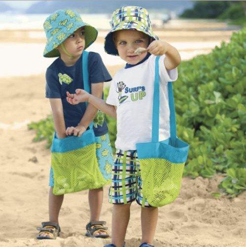 Sixlus Sand entfernt Strand Schätze Seestern Shell Mesh Tasche Spielzeug Kinder Sandkästen Easy Carry Fun