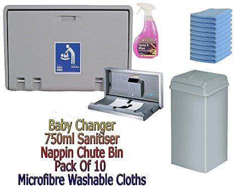 baby-wickelkommode-horizontale-wand-montiert-mit-rutsche-bin-mikrofasertucher-und-750-ml-desinfektio