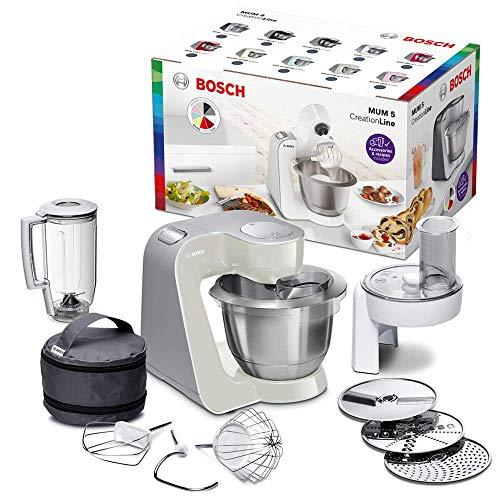 Bosch MUM58L20 CreationLine Robot de cocina con accesorios, 1000 W, 3.9 litros de capacidad, color gris...