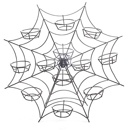 e Baking eb Hall Cupcake Stand Spiders Web Halloween Party Display Party Display ()