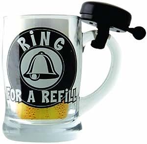 Boxer Ring For Refill Chope bière avec sonnette noire Coffret cadeau