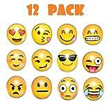Set de 12 imanes nevera imanes pizarra magnetica con diseños 3D de divertidos emoticonos ideales para la oficina,1.8 Pulgada