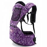 FJY Babytrage Kindertrage Baby Carrier Ergonomische Bauch Rücken Und Hüfttrage Mehrere Tragende Positionen - Passt Sich Ihrem Kind An Wächst CP003, purple