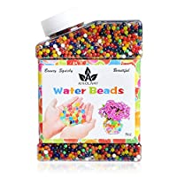 AINOLWAY Gel Soil Water Crystal Beads 30,000 Colourful Jelly Water Gems Vase Filler for Home Decorations