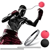 CGBOOM Boxen Training Ball Fightball Reflex Speed Fitness Punch Boxing Ball mit Kopfband Trainingsgerät Speedball für Boxtraining Zuhause und Outdoor Verbessern Reaktionen und Speed
