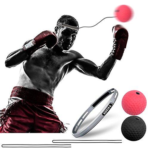CGBOOM Boxen Training Ball Fightball Reflex Speed Fitness Punch Boxing Ball mit Kopfband Trainingsgerät Speedball für Boxtraining Zuhause und Outdoor Verbessern Reaktionen und Speed