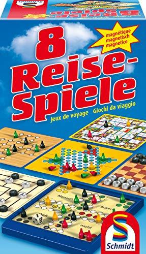 Schmidt Spiele 49102 - 8 Reise-Spiele, Spielesammlung, magnetisch, bunt Reise-outlet