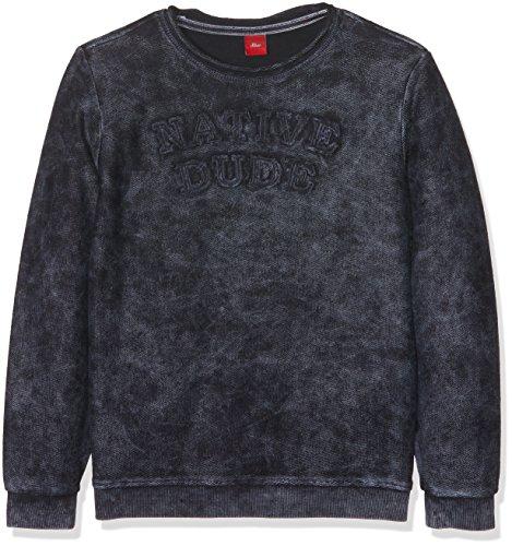 s.Oliver Jungen Sweatshirt 61.709.41.5258 Blau (Blue 5959), 164 (Herstellergröße: L/REG) (Pullover Boys L/s)