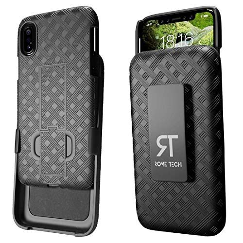 iPhone X Fall, Rom Tech OEM Shell Premium Hybrid stoßfest Schutzhülle für Apple iPhone X 2017-Schwarz -