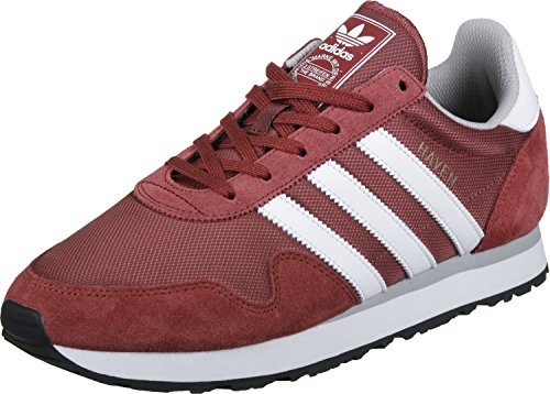 adidas Herren Haven Gymnastikschuhe Rot (Mystery Red/Footwear White/Clear Granite)