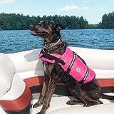 Vivaglory Hundeschwimmweste Doggy Float Coat Wassersport Schwimmhilfe Rettungsweste für Hunde Haustier Mit Griff und Reflektoren, Rose, XS - 6