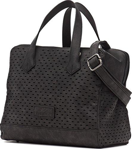 Miya Bloom Miya Donna, Borse, manico borsa, tracolla, Crossover Bags, 29x 21x 15,5cm, Rosso Corallo Midnight Black