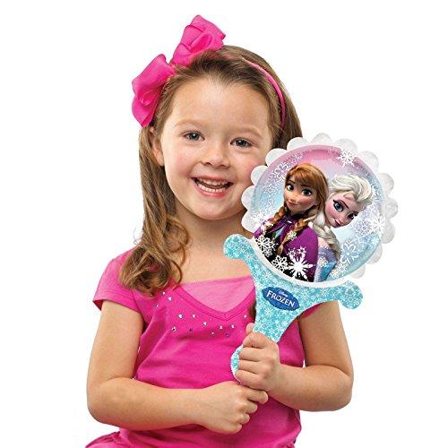 Disney Frozen Aufblasen von Ballons, A-Fun Anna Elsa Disney Prinzessinnen Party Hand Held Offizielles Wand, 21 x 35 cm