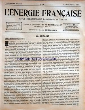 ENERGIE FRANCAISE (L') [No 71] du 12...