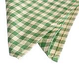 Hans-Textil-Shop 6 Stück Stoff Servietten 40x40 cm Karo 1x1 cm Grün