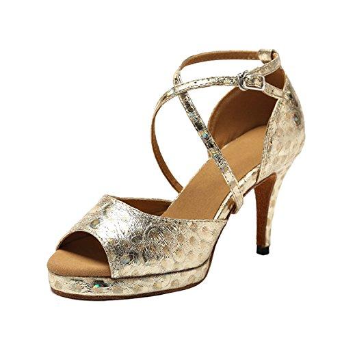 Minitoo - Ballroom donna , oro (Gold-8.5cm Heel), 39