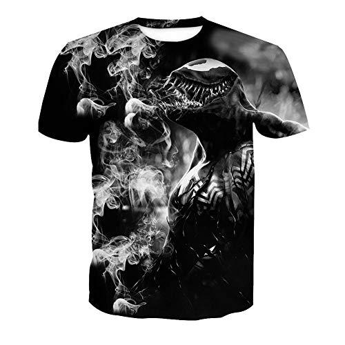 Ywfzzxs T-Shirt 3D Tops Mode-T-Shirts Unterhemden Kurzarm Unisex Neuheit Kostüm HD Anime Druck Venom