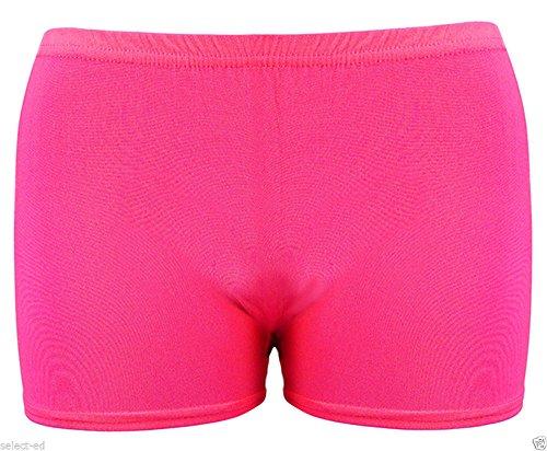 Mädchen Microfiber Hot Pants Kurze Hose Tanzen Fitness-Studio Stretch Shorts Alter 5-12