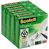 Scotch Magic Ruban Adhésif Invisible Lot de 4