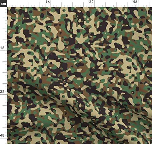 Deutschland, Tarnfarbe, Tarnfarben, Armee, Soldat, Marine Stoffe - Individuell Bedruckt von Spoonflower - Design von Thinlinetextiles Gedruckt auf Baumwoll Spandex Jersey -